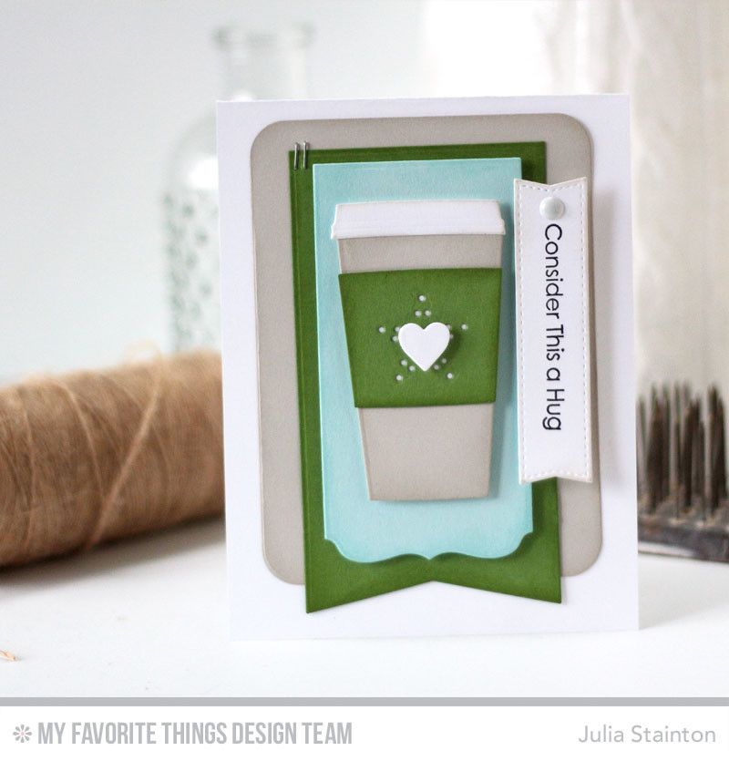 Coffee Hug Card by Julia Stainton featuring MFT Stamps and MFTWSC323