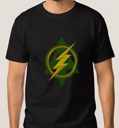 Idée Créative - Camiseta Arqueiro Verde e Flash