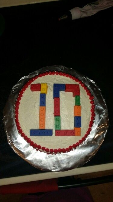 Lego cake for my son's 10th birthday