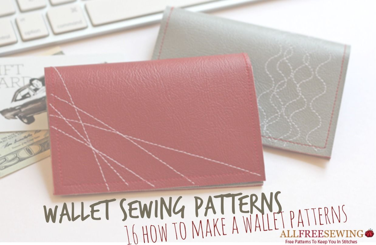 Wallet Sewing Patterns: 16 How to Make a Wallet Patterns | AllFreeSewing.com