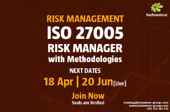 ISO 27005 Risk Manager with methodologies of risk management