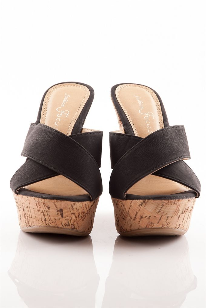 Give Them The Slip Slip On Platform Cork Wedge Sandals