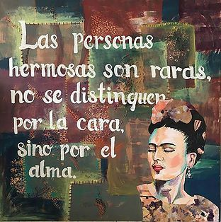 Frida Kahlo painting on canvas with Kahlo quote ©pickertpieces - #fridakahlopaintings