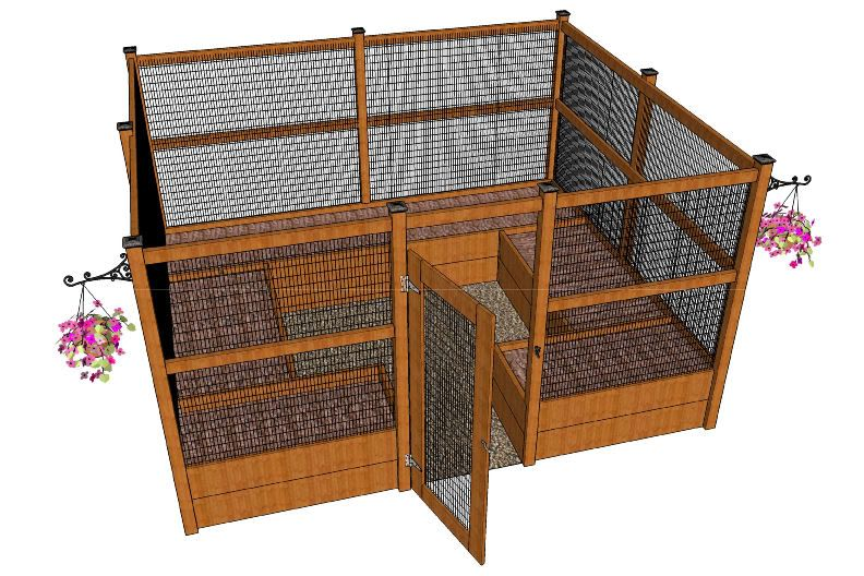 Plan For Completely Enclosed Raised Bed Arrangement Excellent