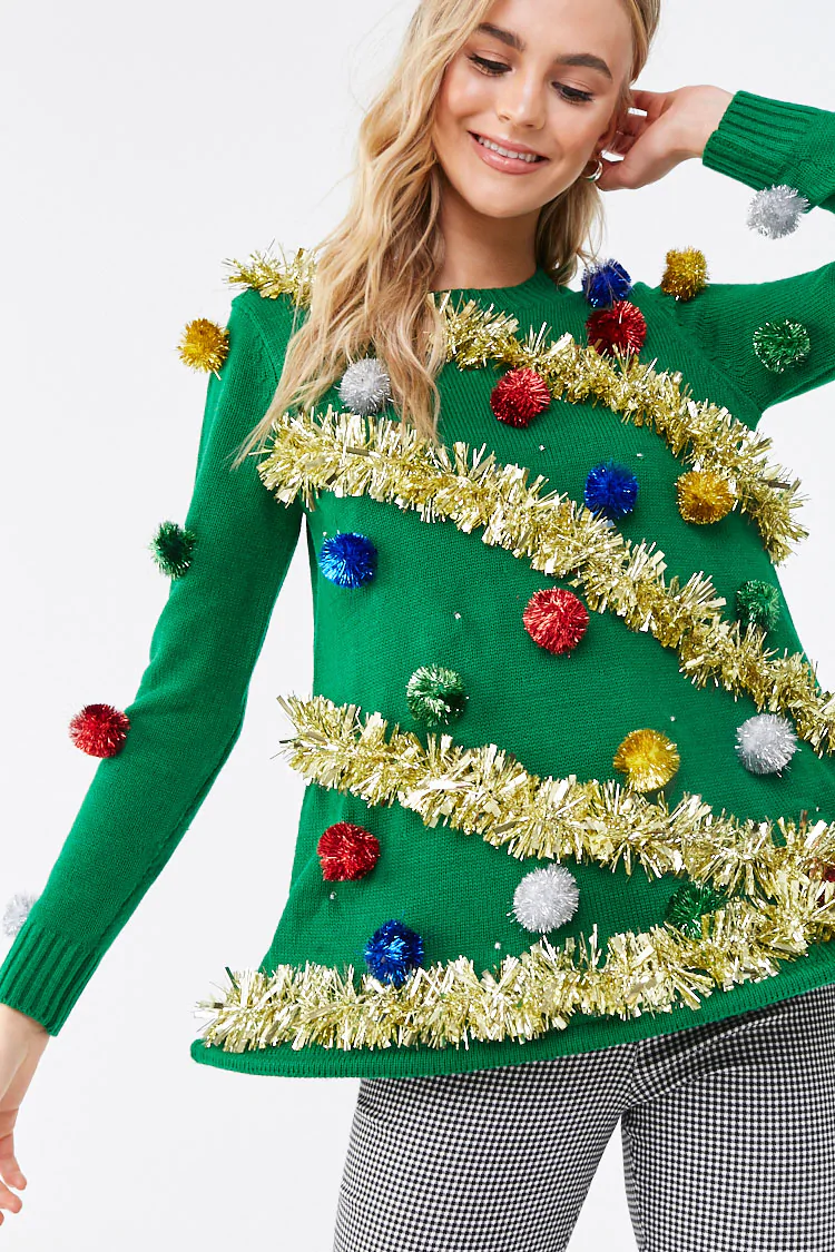 Christmas Tree Light Up Sweater Dress Forever 21 With Images Pretty Sweaters Christmas Tree Dress Tree Sweater Diy