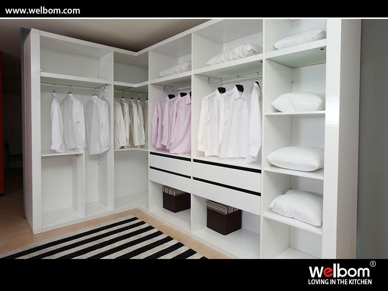 V forma modular walk in closet walk in closet shape and - Diseno de armarios ...