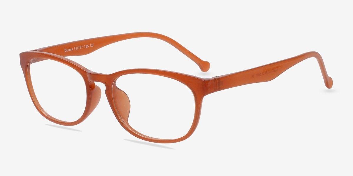 Drums Orange Plastic Eyeglasses from EyeBuyDirect. Exceptional style ...
