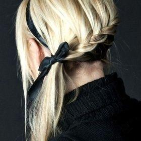 side braided pony.