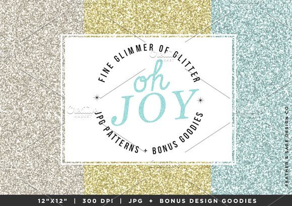 (Seamless) Oh Joy - Glitter & More by Feather & Sage Design on @creativemarket
