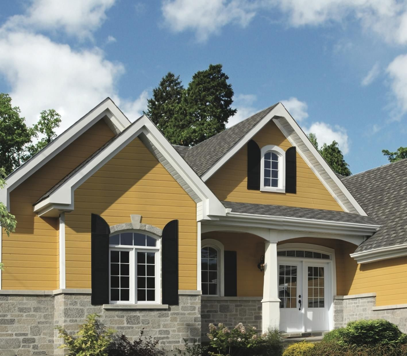 30+ Stunning Exterior House With Brown Roof Colors Decor