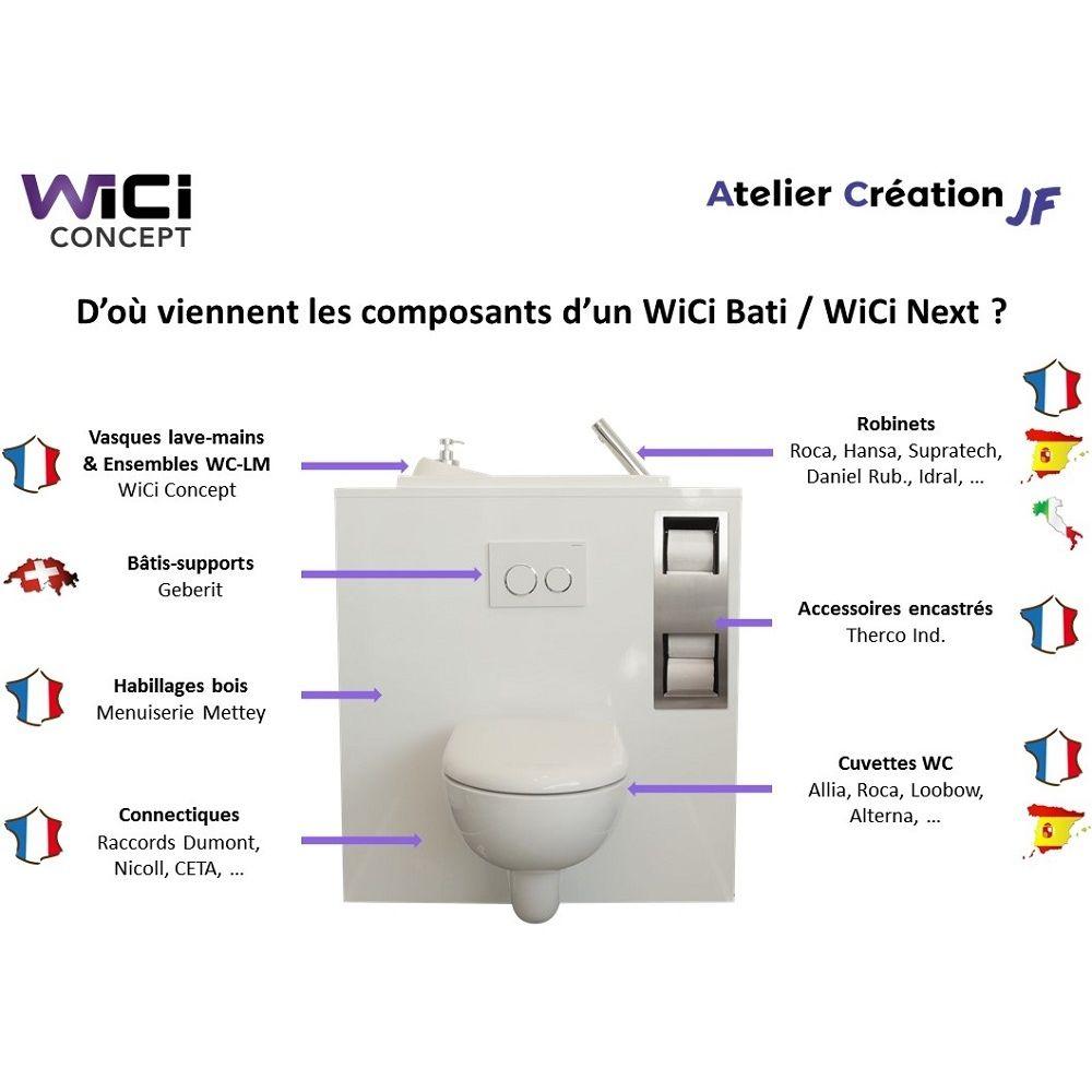 Cuvette De Wc Suspendu Geberit wc suspendu geberit avec lave main wici bati - modele miami