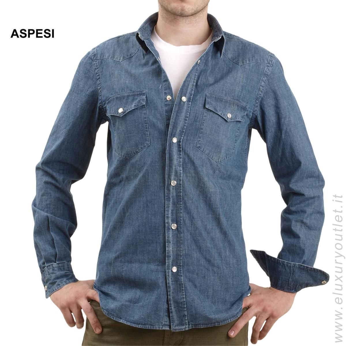 #Denim #Shirt #Aspesi -70% su #eluxuryoutlet!!! >> http://www.eluxuryoutlet.it/it/camicia-aspesi-6.html