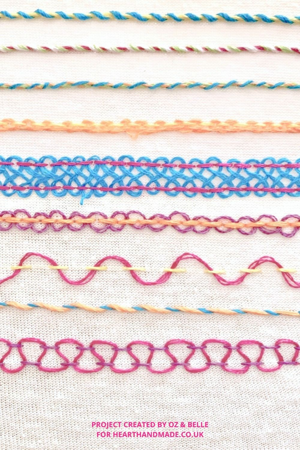 Basic hand embroidery stitches made easy with oz belle