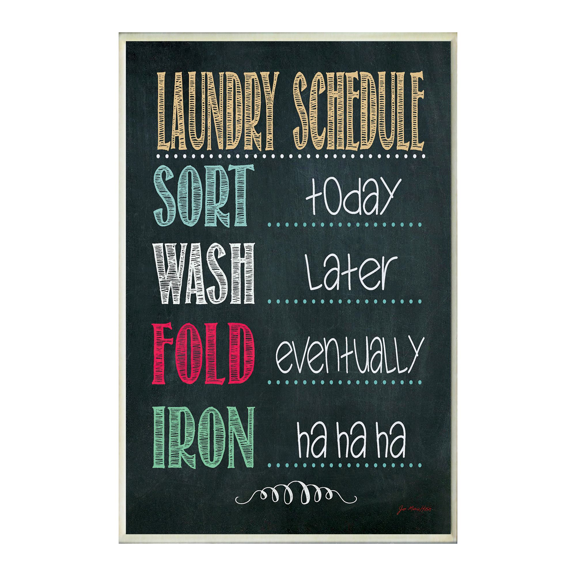 Laundry Wall Plaque Stupell Industries Laundry Schedule Chalkboardlook Wall Plaque