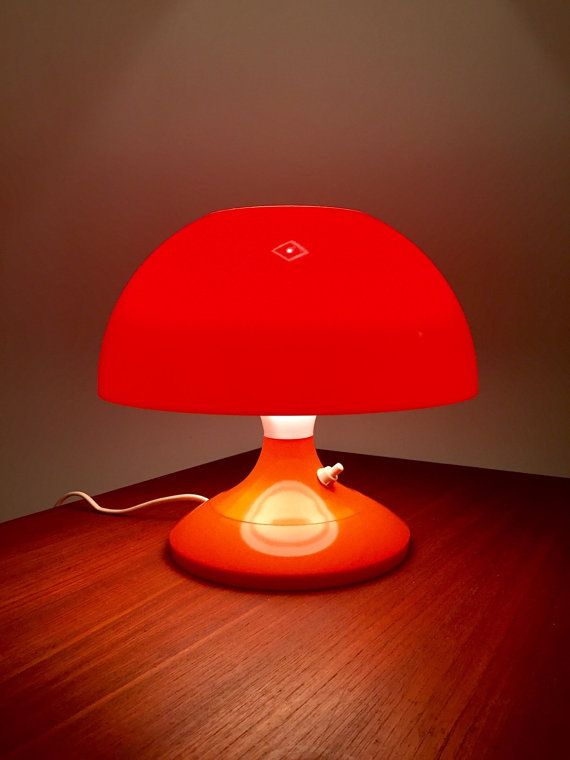Bent Karlby 70s Danish Space Age Orange Table Light Orange Lamps Orange Table Light Table