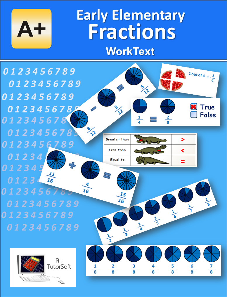Free Early Elementary Fractions WorkText (Textbook and Workbook) 88 ...