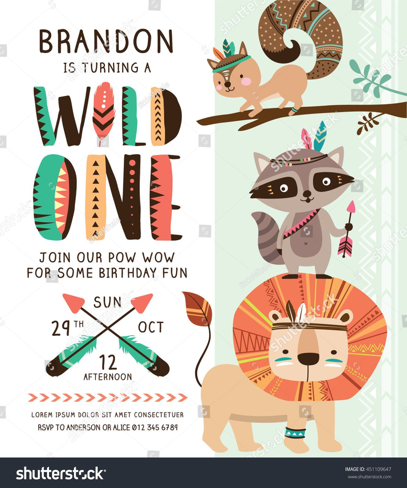 Custom Tribal Woodland 1st Birthday Boho Rustic Pow Wow Decorations Tribal Animal Backgrounds Computer Print Party Backdrop Sale Price Camera & Photo