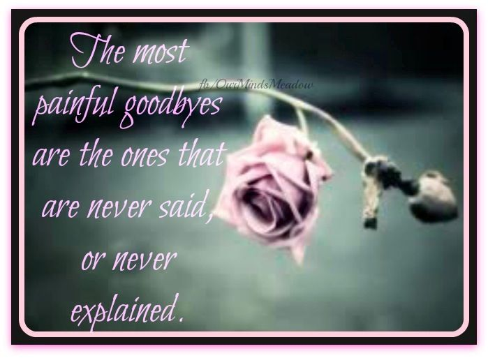 Most painful goodbye rose quote via