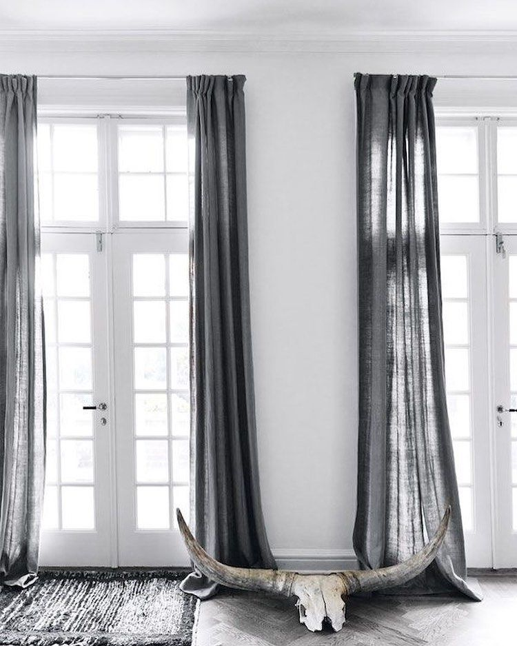 Pin By Pauline On Interior Curtains Living Room Minimalist Curtains Scandinavian Curtains