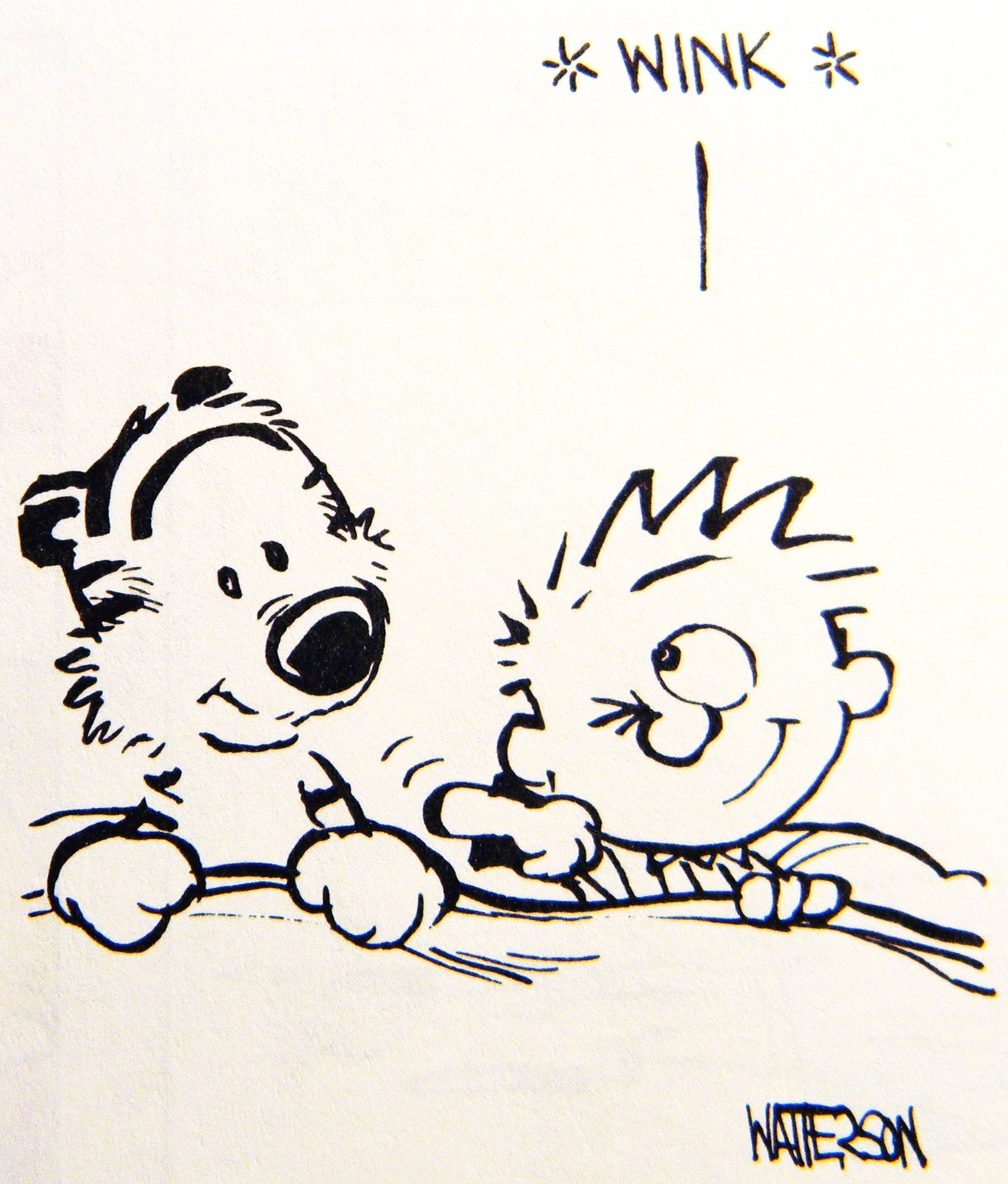 Calvin And Hobbes Wink Calvin And Hobbes Comics Calvin And Hobbes Calvin And Hobbes Tattoo