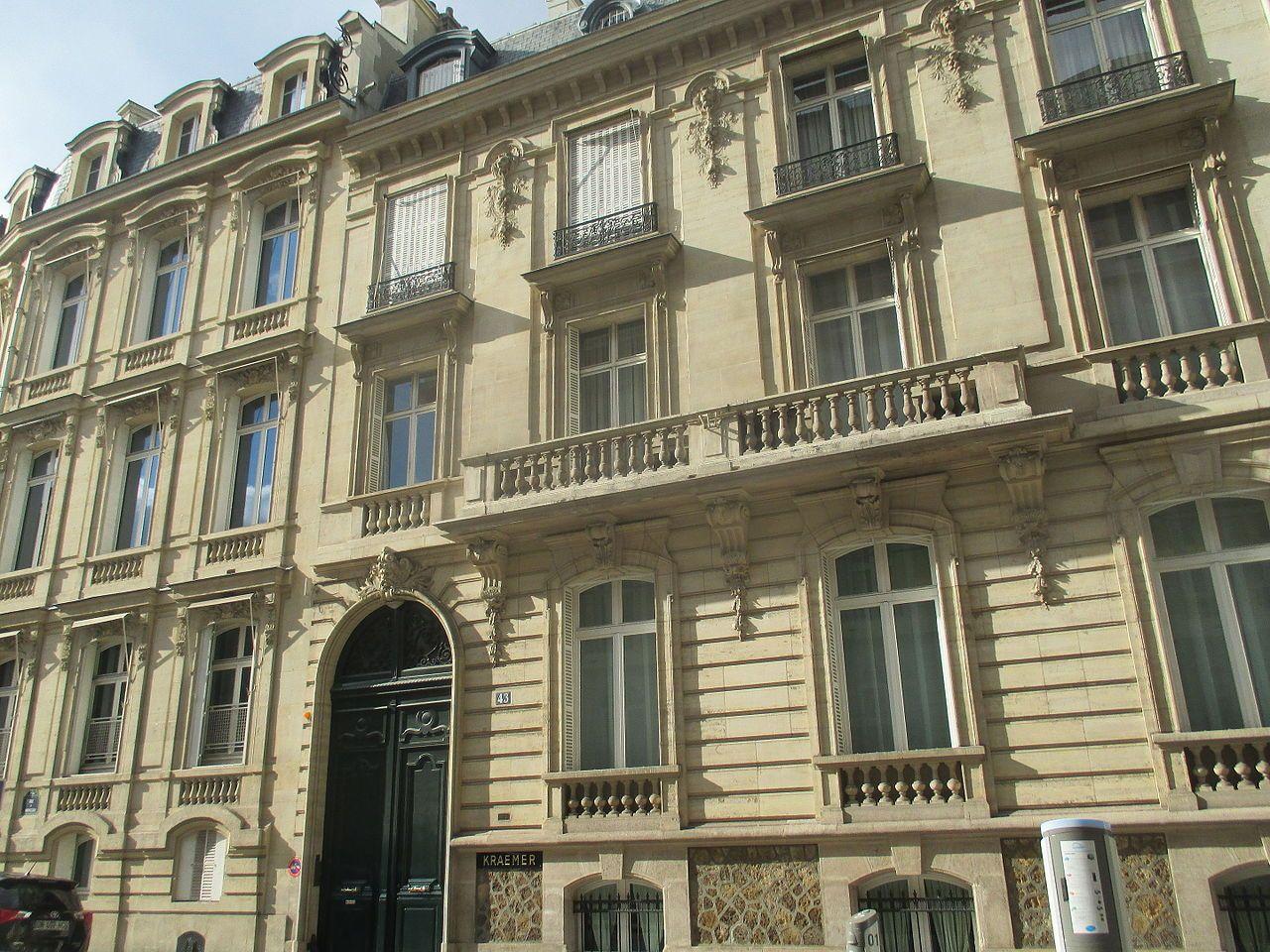 Hôtel Kraemer (XIXe) 43 rue de Monceau Paris 75008. Abrite ...