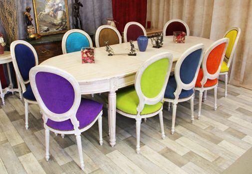 table chaise medaillon couleur style louis XVI À acheter Pinterest