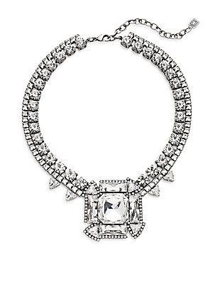 1e6c4013eedb4 DANNIJO Vreeland Swarovski Crystal Necklace - Silver - Size No Size ...