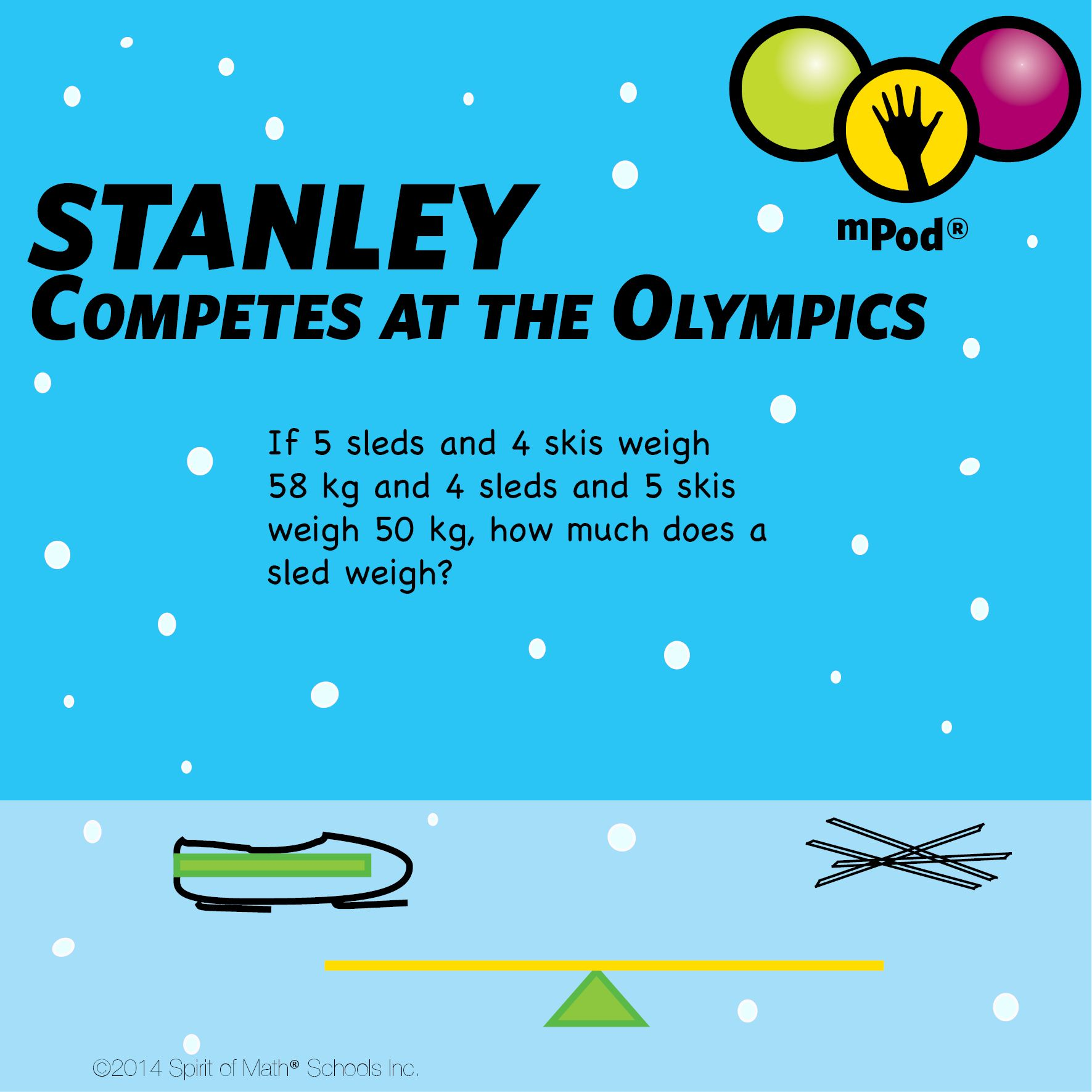Olympic Math Question About Equipment