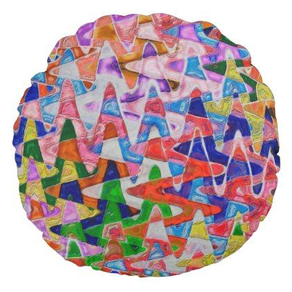 Valleys and Peaks Round Pillow   Zazzle.com