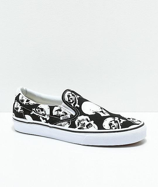 Vans slip on, Skull shoes, Skate shoes