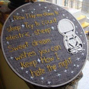 Geek Embroidery #geek #craft #h2g2