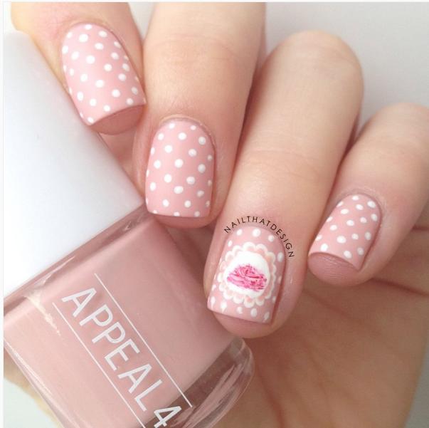 33 Cute Pink Nail Designs You Must See   Pink nails, Dot nail art ...