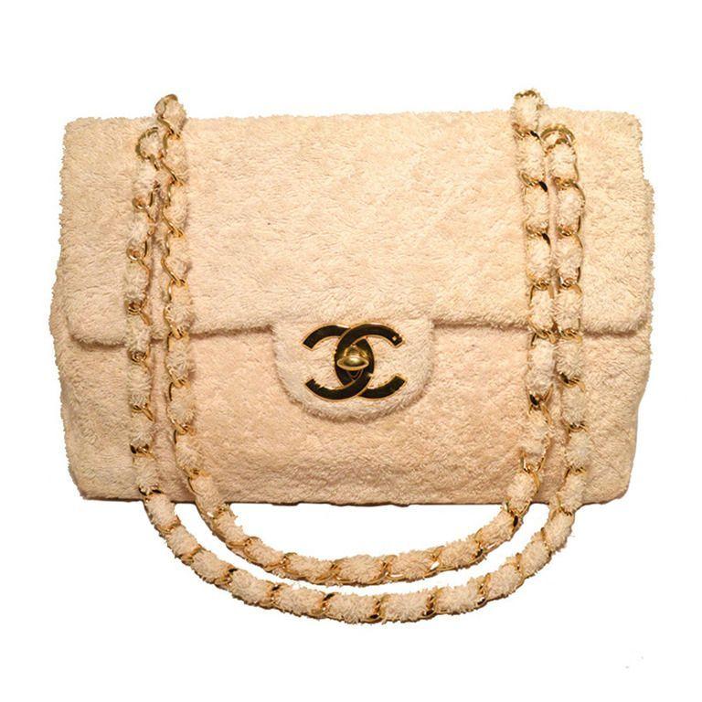 0b985a73674 chanel terry cloth bag