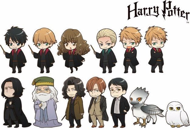 These Official Harry Potter Anime Characters Will Make You Squeal With Joy Harry Potter Anime Harry Potter Characters Anime Chibi