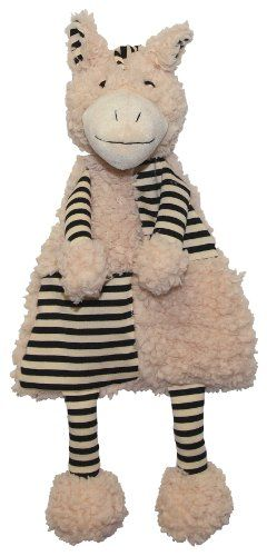 Patchwork Pet Flat Zebra 18inch Squeak Toy For Dogs For More