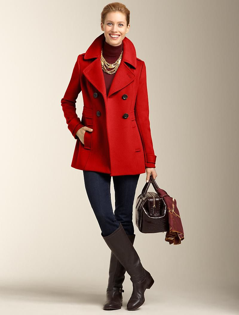 Talbots Clothes For Women Fashion Peacoat Outfit [ 1057 x 800 Pixel ]