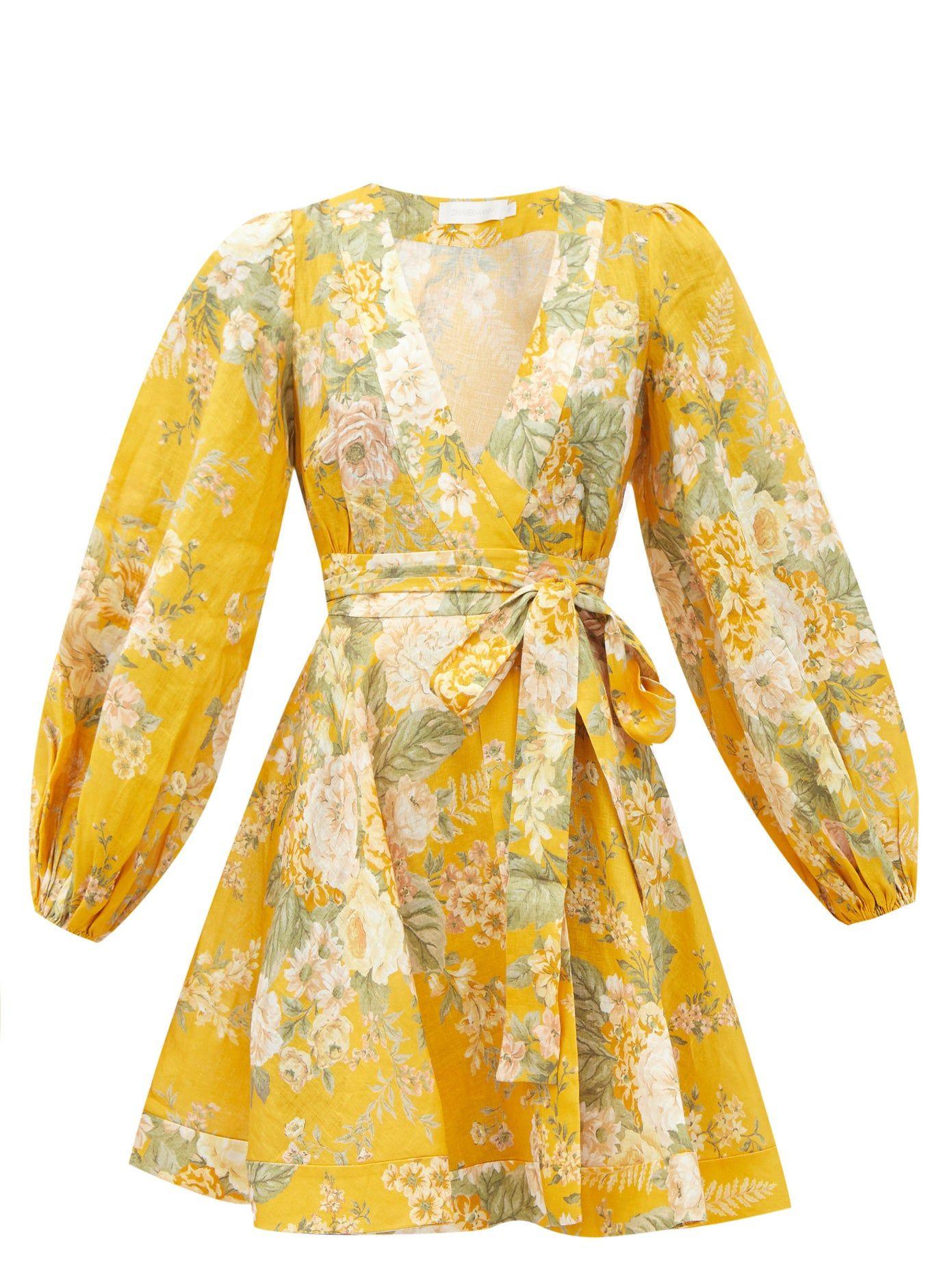 Amelie Floral Print Linen Sun Dress Zimmermann Matchesfashion Uk In 2020 Linen Sundress Printed Linen Dresses