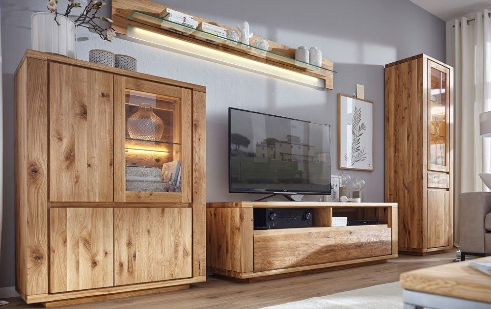 Natura Bakersfield Tv Lowboard In Eiche Massiv Tv Element 133x47cm Jale Kiefer Eiche Massiv Wohnzimmer Konsole Eiche Massiv G In 2020 House Interior Home Tv Lowboard