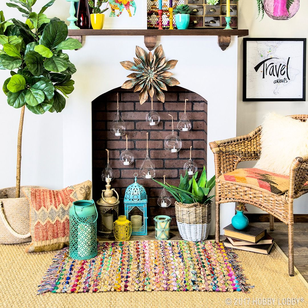 Eclectic Boho Living Room Colour