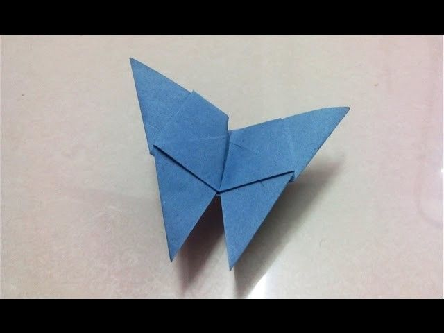 How To Make An Origami Paper Butterfly Paper Folding Crafts Craft