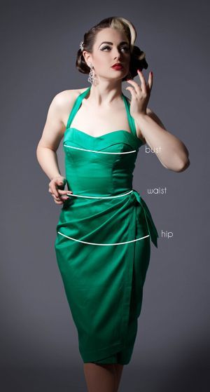 1930s, 40s & 50s inspired dresses and clothing for the elegant lady from 20th Century Foxy - made in Great Britain