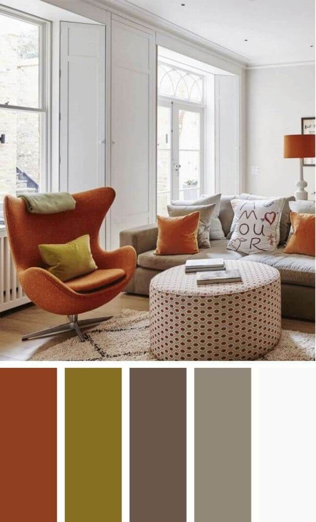 41 Inspiring Living Room Color Schemes Ideas Will Make Space Beautiful images