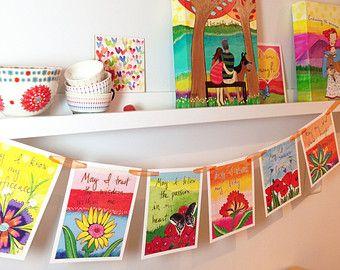 Grateful Heart Prayer Flags 415-PF by LoriPortka on Etsy