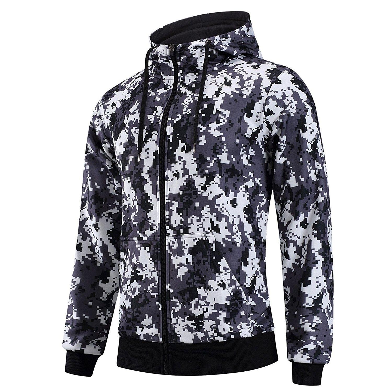 69b841f0144e7 Men's Camouflage Raglan Hooded Full Zip-up Sweatshirt Outdoor Travel Hoodie  - Camouflage 1 - CZ185IAWO4R,Men's Clothing, Active, Active Hoodies #men ...