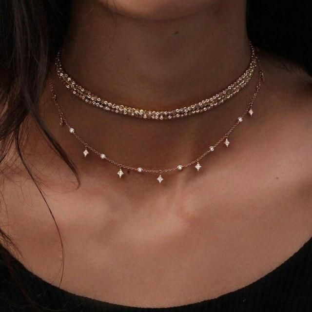 Photo of Moon & Stars Necklace Set