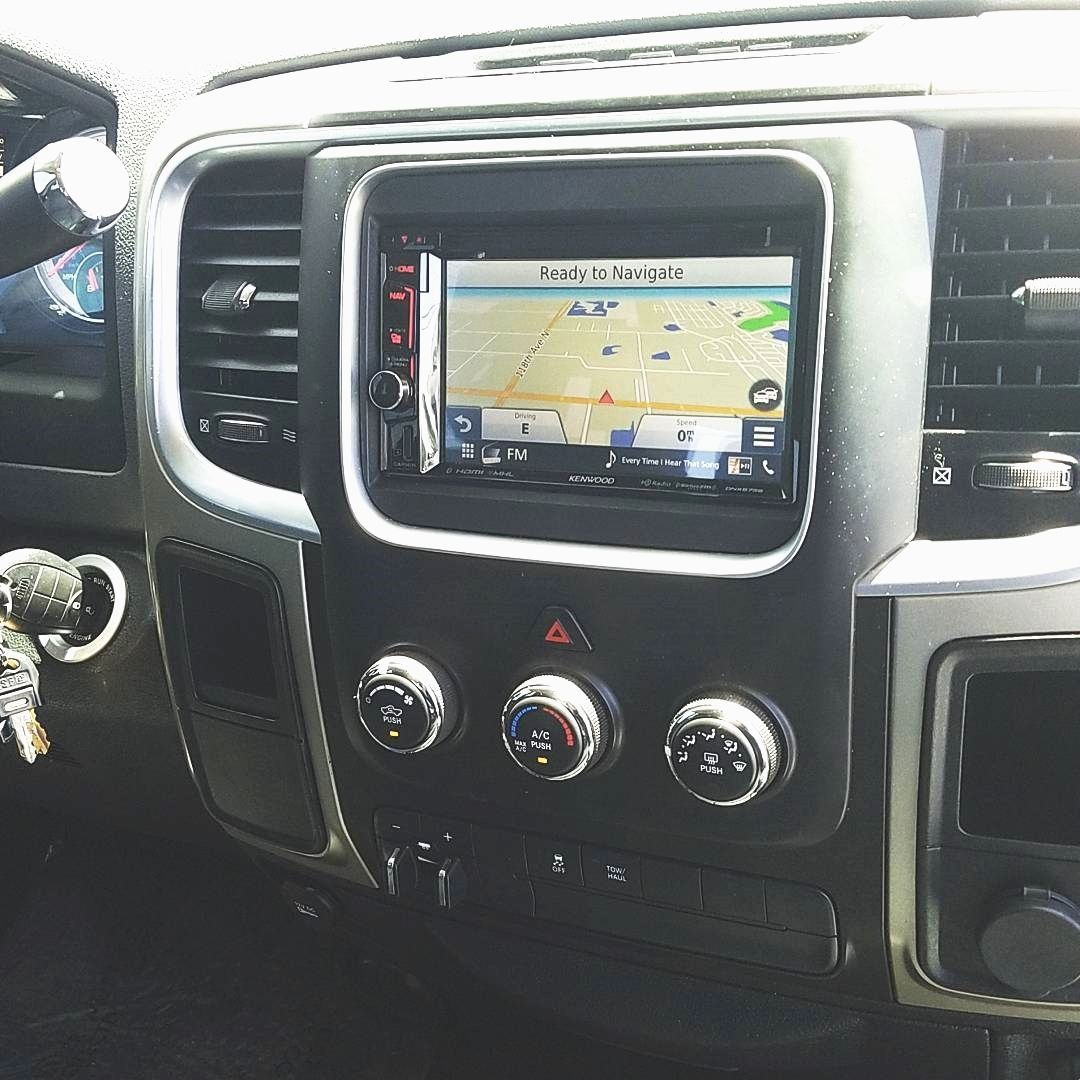 This Ram 2500 truck got a nice upgrade with a Kenwood