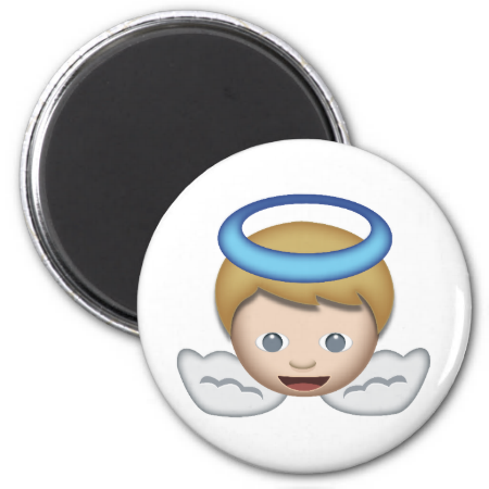 Baby Angel Emoji Baby Angel Emoji Fridge Magnets
