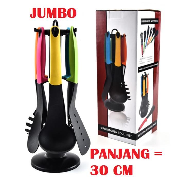 Spatula Jumbo 6 In 1 Kitchen Tools Di 2020 Produk Rumah Sendok