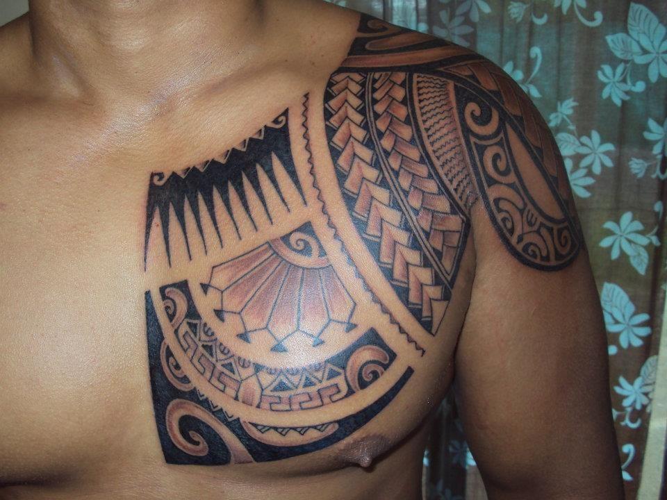 Tattoo On Chest Tribal Chest Tattoos Chest Tattoo Men Marquesan Tattoos