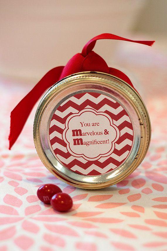 Printable MM mason jar label instant downloadable PDF Candy label